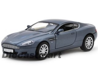 Aston Martin DB9 Coupe New Diecast Model Car Metallic Grey Blue