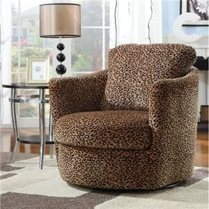 Wildon Home ® San Augustine Leopard Print Swivel Chair