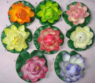 16pcs Artificial Lotus Flower Faux Silk Floating Flower Fake Plant