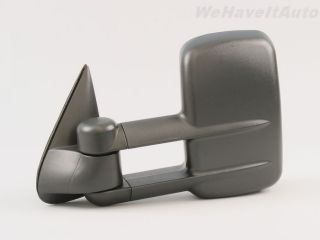 99 02 Chevy GMC Truck Towing Black Power Heated Side Door Mirror LH RH
