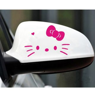Kitty Face Car Truck Motor Auto Rear View Mirror Decal Sticker KR1 M