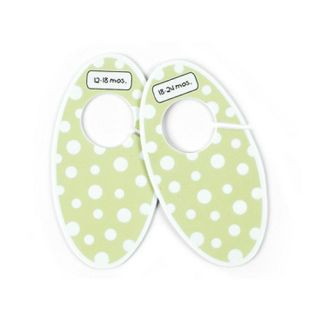 Sugarbooger Green Polka Dots Baby Closet Dividers Nursery Organizer
