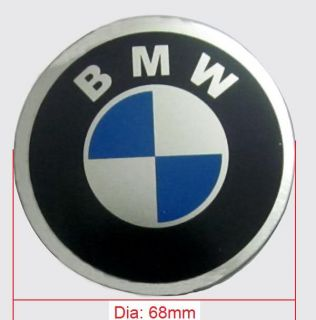 55mm BMW Logo Car Tire Wheel Center Cap Sticker 4pcs Set