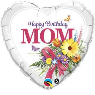 Birthday Mom 18 Heart Balloons Gifts Party Decorations