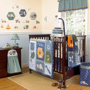 and Trucks Discounted Constuction Baby Boy 9p Nursery Crib Bedding Set