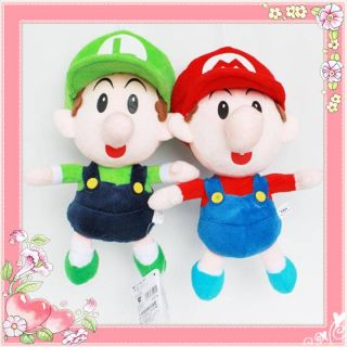Sport Collectible 2 Baby Super Mario Plush Toy 22cm Luigi Teddy