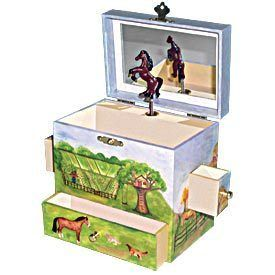 Enchantmints Childrens Musical Jewelry Box Horse Ranch