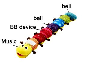 NEW Musical Colorful Inchworm Soft Lovely Developmental Baby Toy