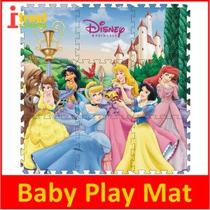 Baby Play Mats Disney Story Princess Kids Foam Play Mat