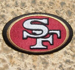 San Francisco 49ers Logo NFL Football Crest Embroidered Iron on Patch