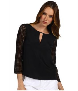 tibi labyrinth lace w cdc combo 3 4 sleeve top