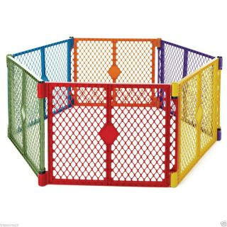 North States Superyard COLORPLAY Gate Play Yard Baby Pet