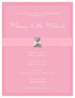 BABY SHOWER Personalized Girl Boy Teddy Bear Party INVITATIONS
