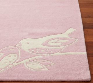 Pottery Barn Kids Baby Bird Rug Pink 5x8 5 x 8 SEALED New
