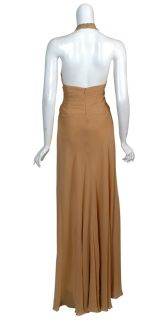 Badgley Mischka Flattering Silk Long Gown Dress 10 New