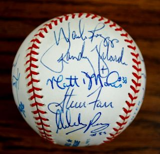 1993 New York Yankees Partial Team Signed Baseball Boggs Mattingly JSA