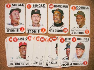 1968 Topps Baseball Game Cards Wax Pack Inserts 23 diff creases Mantle