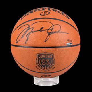Michael Jordan Signed 2009 HOF Ed Basketball UDA Le 223