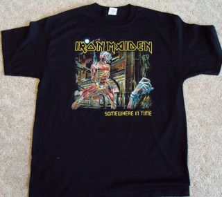 iron maiden tour shirt in Clothing,