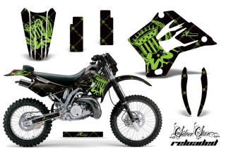 AMR RACING MOTORCYCLE NUMBER PLATES GRAPHIC WRAP KAWASAKI KDX 200 220