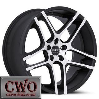 Newly listed 20 Black Ruff R954 Wheels Rims 5x115 5 Lug Challenger 300