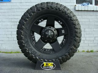 18 XD Rockstar Black 35x12.50 18 Toyo Open Country MT 35 tires