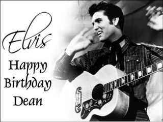 a4 elvis presley edible icing cake topper top freepost time