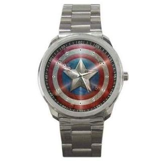 Hot Item Sport Metal Watch The Avengers Captain America Shield Bullet