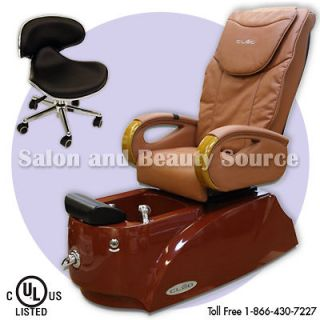 salon equipment pipeless pedicure spa chair cleo lx time left
