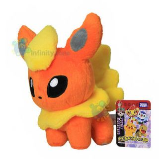 NEW TAKARA TOMY Pokemon Pikachu 6 FLAREON Plush Figure Doll Toy