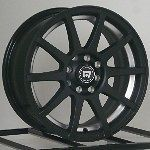15 Inch Wheels Rims Motegi Racing Flat Black SP10 4 Lug MR2748 4x100