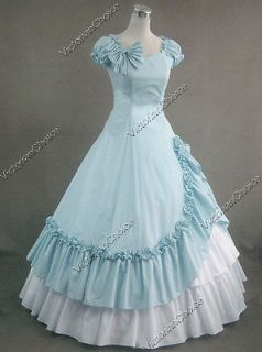 Civil War Southern Belle Cotton Evening Gown Skirt Dress 208 XL