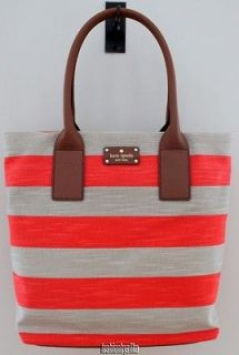 /Kate Spade/Jubilee Stripe/Bon Shopper/Col Coral/$278.00*​**NEW