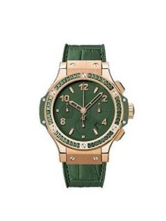Stunning Hublot Big Bang Tutti Frutti Dark Green 41mm Womens Watch