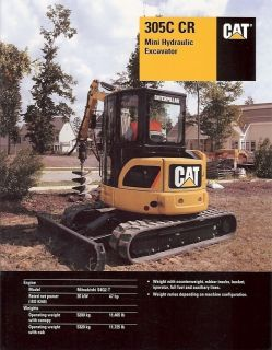 Equipment Brochure   Caterpillar   305C CR   Mini Excavator   2006