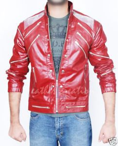 Michael Jackson Beat It Leather JACKET & Free Billie Jean Glove All