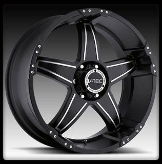 20X9 V TEC 395 WIZARD 20 INCH BLACK 6X135 FORD F150 EXPEDITION WHEELS