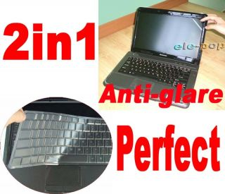 14 Anti Glare Screen Protector Keyboard Skin for Dell Inspiron 14z