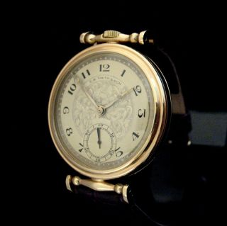 RARE Aged Stunning C R Smith Son Watch Art Deco Dial Gold Plated Case