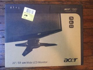 Acer G205HV 20 Widescreen LCD Monitor Black New