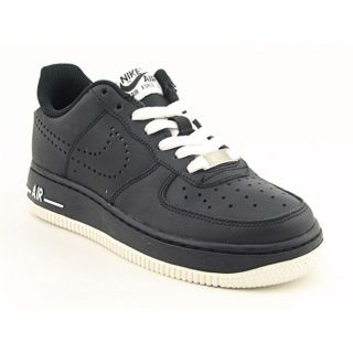 Nike Air Force 1 (GS) Youth Kids Boys Size 4 Black Leather Basketball