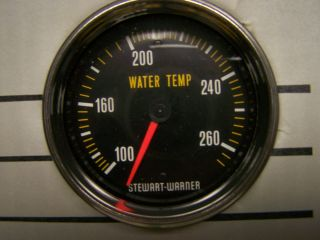 STEWART WARNER TEMPERATURE GAUGE WATER GAUGES 6 FOOT TEMP GAUGE