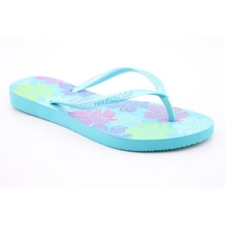 Havaianas Slim Allegra Youth Kids Girls Size 2 Blue Flip Flops Sandals