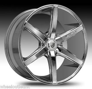 22 Lexani Wheels R 06 Stagger Chrome Rims Tires BMW 745 S550 20 R SIX