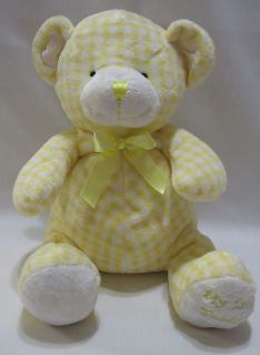 Animal Alley My 1st Teddy Bear Yellow White Plush Rattle Stuffed