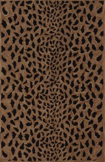 Modern Animal Print Leopard Spots Cheetah Area Rug Gold Black 5x7 5x8