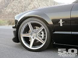 20 MUSTANG TOXIC WHEELS STAGGERED CHROME Rims SALEEN COBRA GT
