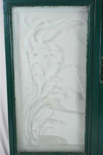 WOW Antique French Pair Art Nouveau Etched Glass Doors
