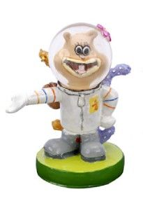 spongebob squarepants aquarium ornament mini sandy