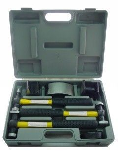 NEW AUTO BODY REPAIR KIT 7 piece SET + CASE  SHOP TOOLS